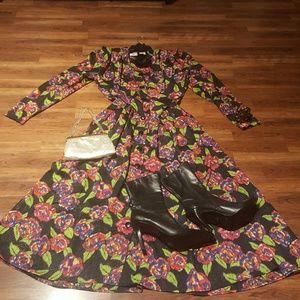 Vintage! Beautiful 1980's dress!! Ms. Claus